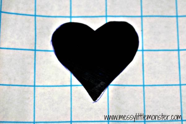 heart scribble mug