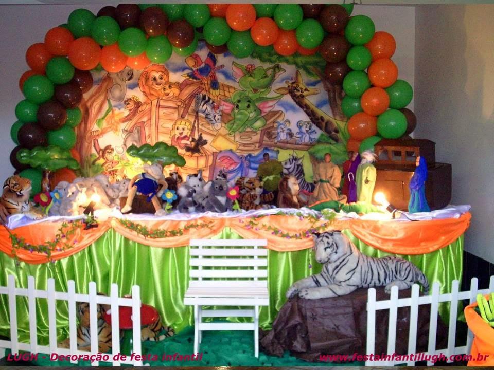 Tema Arca de Noé para decoração de festa infantil