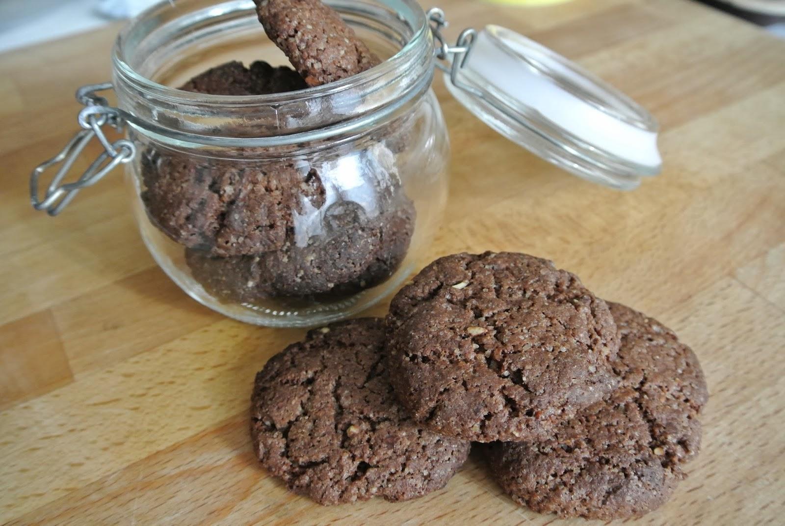 cookies con farina di carruba