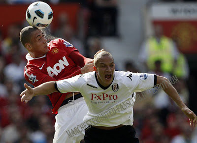 Chris Smalling Barclays Premier League Man Utd v Fulham