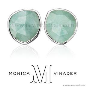 Sophie, Countess of Wessex style Monica Vinader Siren Stud earrings