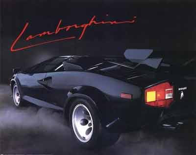 The Countach Poster