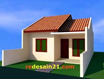 Desain Rumah Type 48 untk luas tanah 72 m2 - sudut kanan