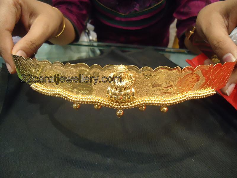 Gold Oddiyanam Vaddanam 72 Grams Only Jewellery Designs
