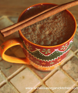 raw mexican hot chocolate with almond milk