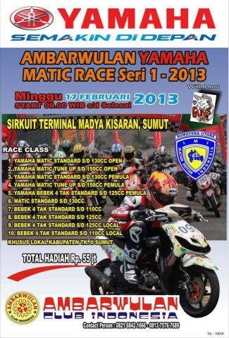"""Info Balap Liar Cilacap -""""Ambarwulan Yamaha Matic Race Seri 1 2013 ..."""