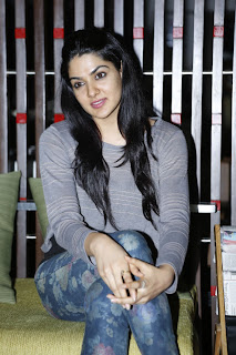 Telugu Actress Sakshi Choudhary Pictures in Jeans at Potugadu Telugu Movie Success Meet Function 0046.jpg