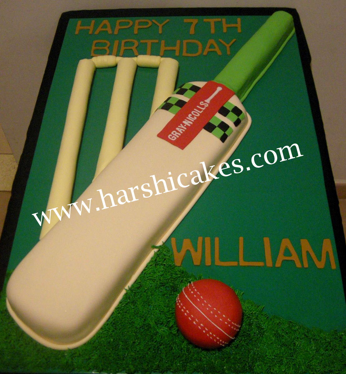 Cricket Theme Cake For William