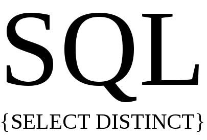 cara menggunakan select distinct