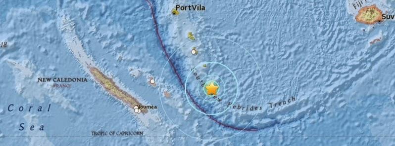 SISMO DE 6,3 GRADOS GOLPEA SURESTE DE ISLA LEALTAD, NUEVA CALEDONIA