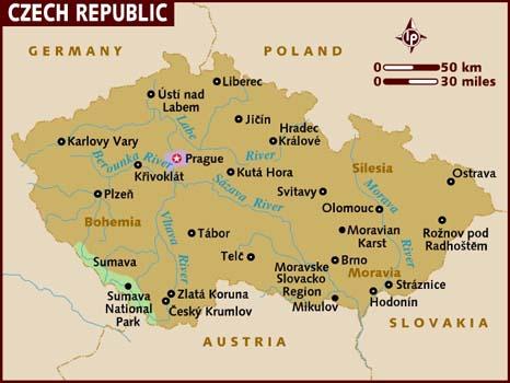 Turismo Republica Checa Mapa
