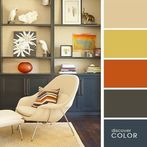 Great color combinations for interior design for Paint palettes for interior