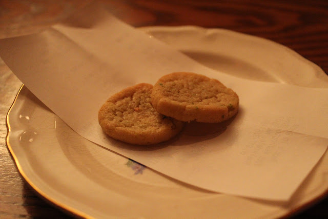 Cookies with the bill at Redd's in Rozzie, Roslindale, Mass.