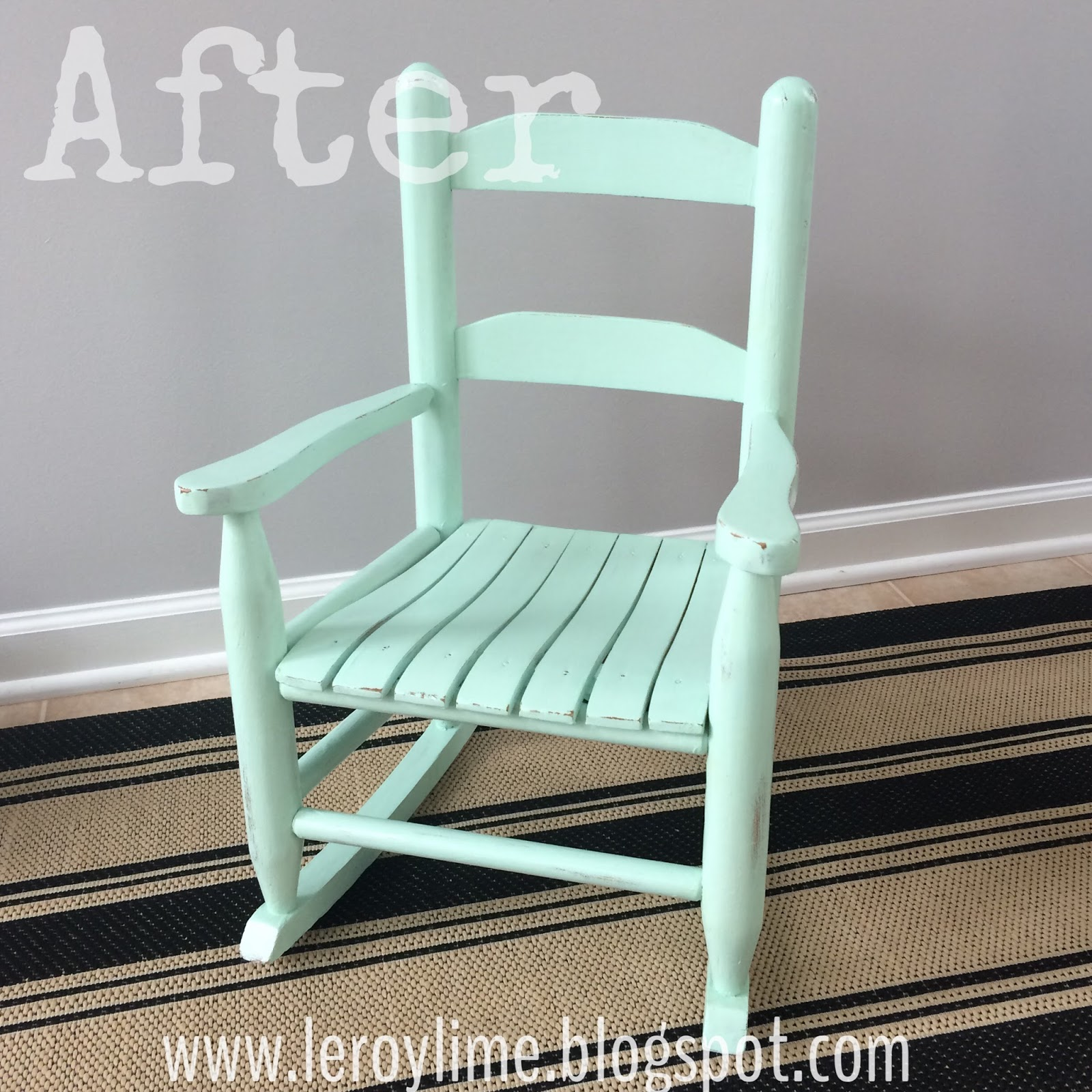 LeroyLime Rocking Chair Makeover