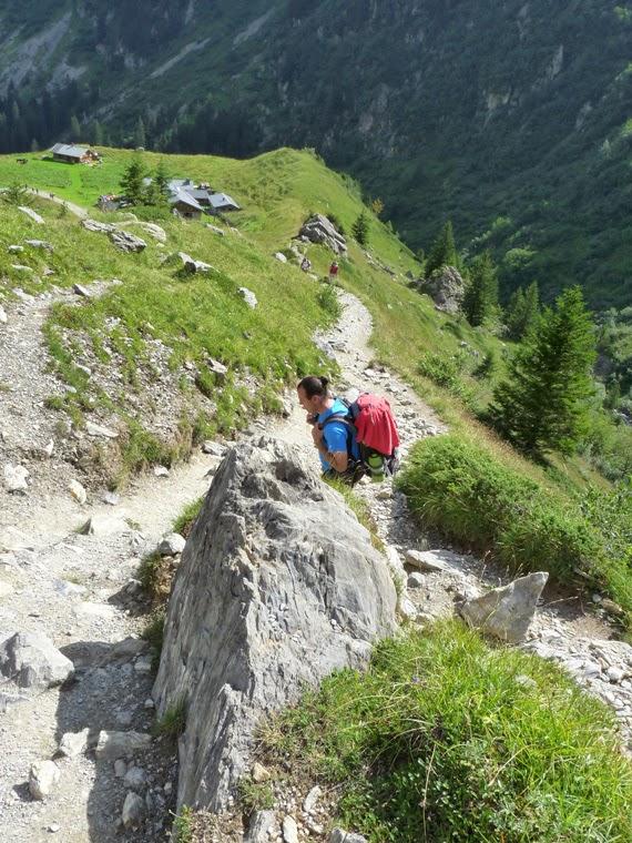 ツール・ド・モンブラン ラ・バルム小屋からまた登り坂