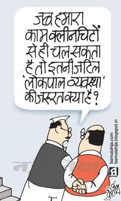 lokpal cartoon, janlokpal bill cartoon, bjp cartoon, congress cartoon, corruption cartoon, corruption in india, indian political cartoon