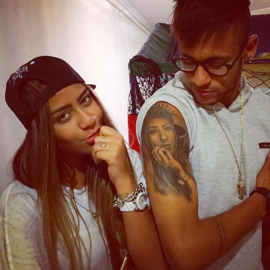 Fotos: da tatuagem de Neymar do rosto da sua irmã