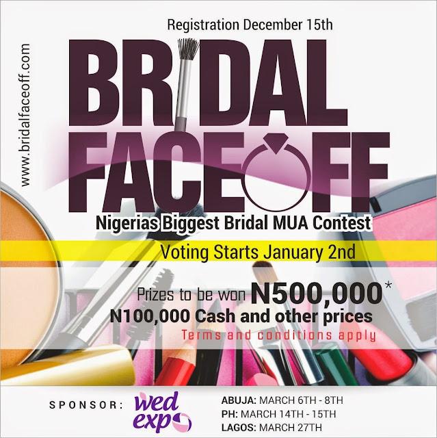 BRIDAL FACEOFF CONTEST 2015. WIN N500,000