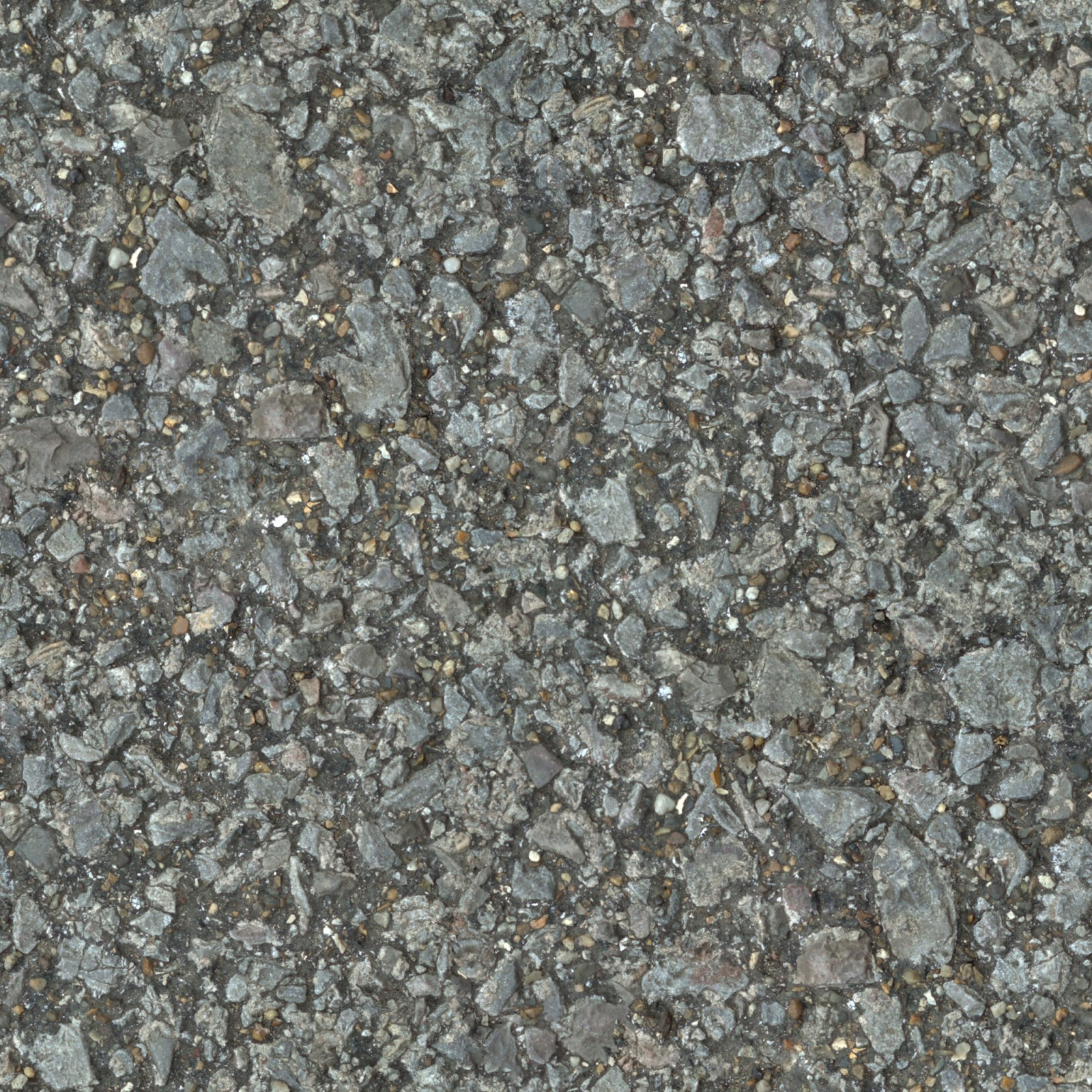 (PEBBLESTONE 3) concrete cobble ground gravel floor seamless texture 2048x2048