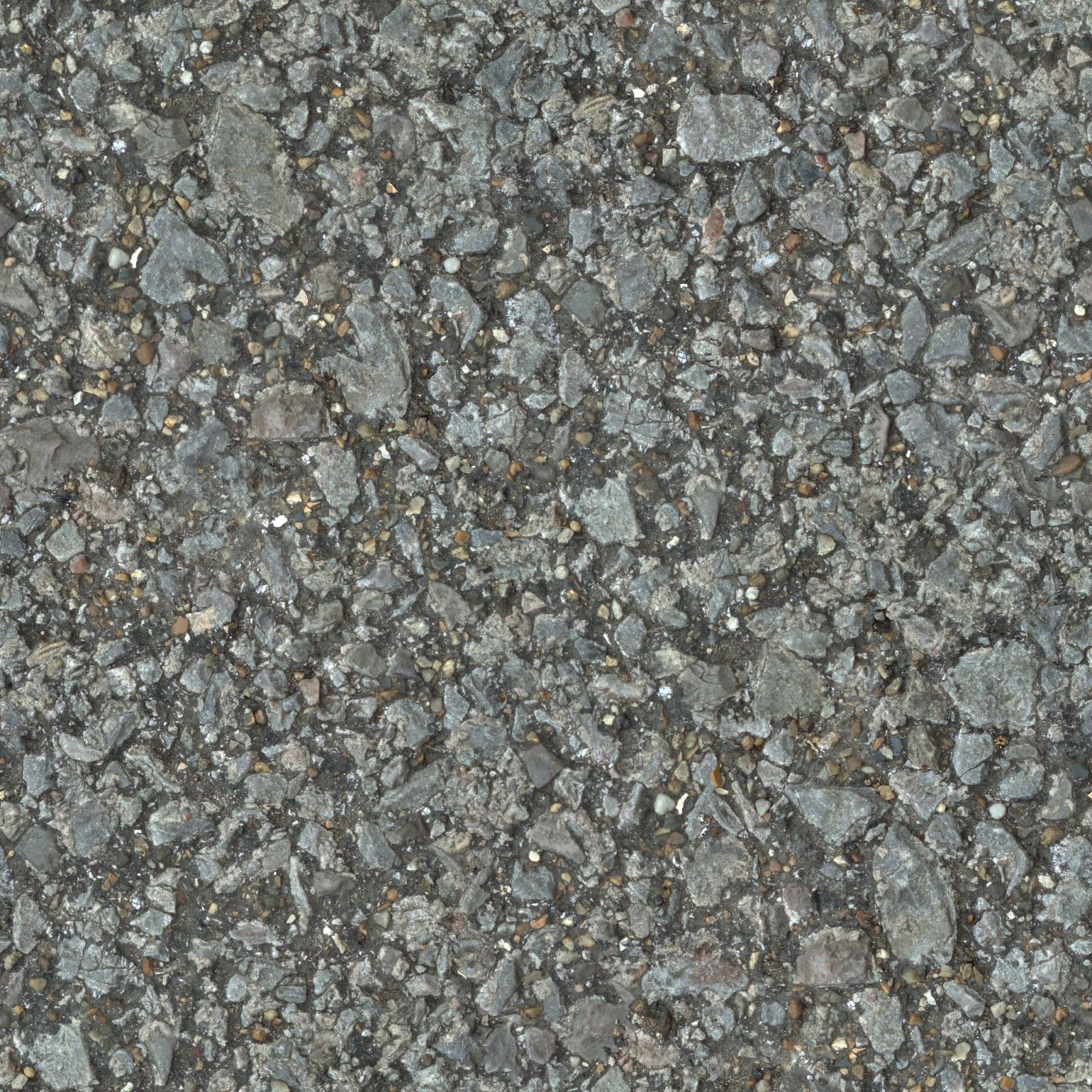 (PEBBLESTONE 3) concrete cobble ground gravel floor seamless texture 2048x2048