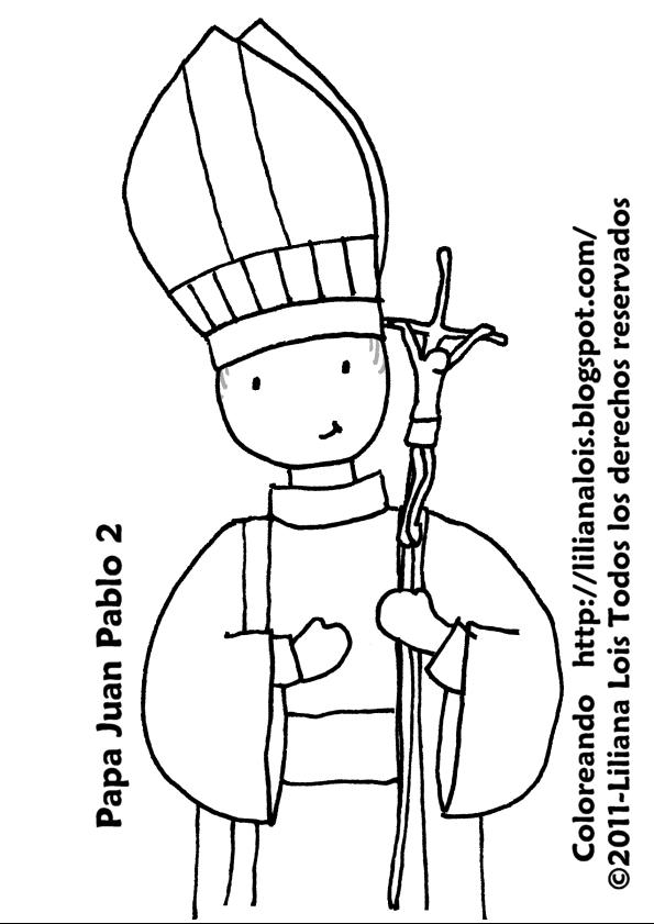 dibujo de papa juan pablo ii para colorear dibujos para