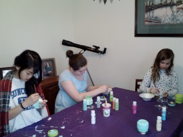 morning craft time #Disneyside MyWAHMPlan.com