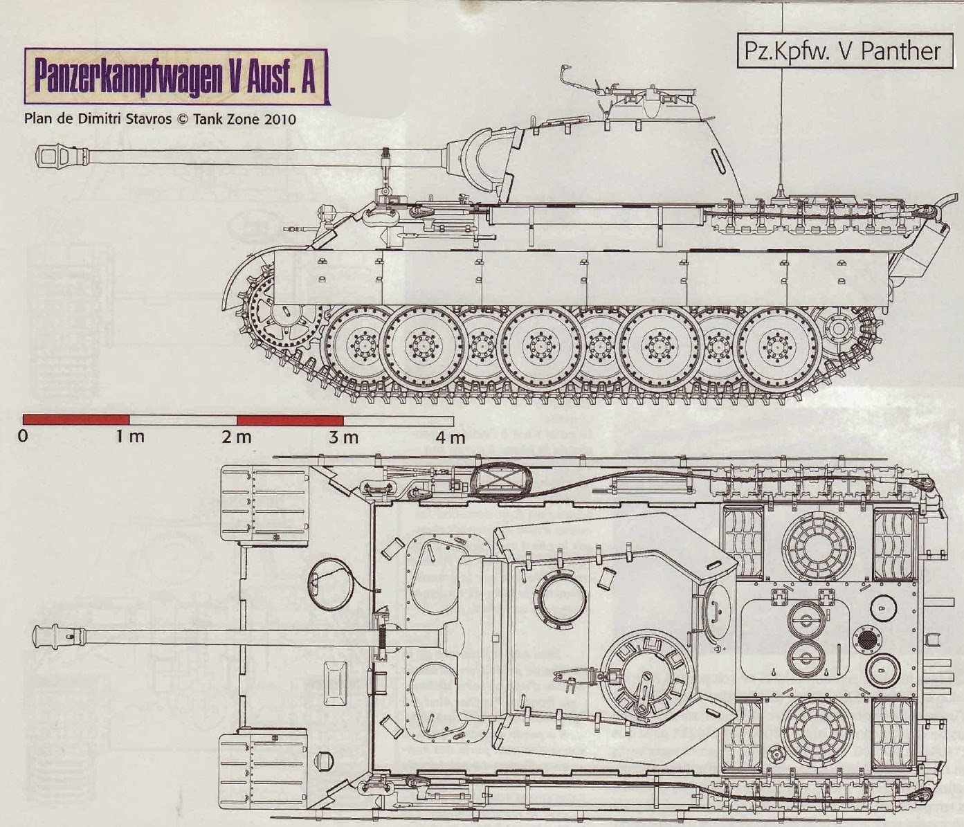 how to draw a panther tank