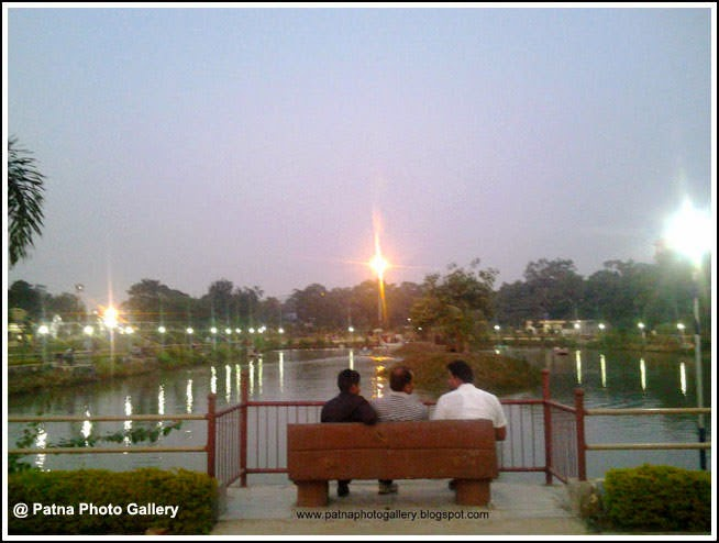 Eco Park Lake evening view