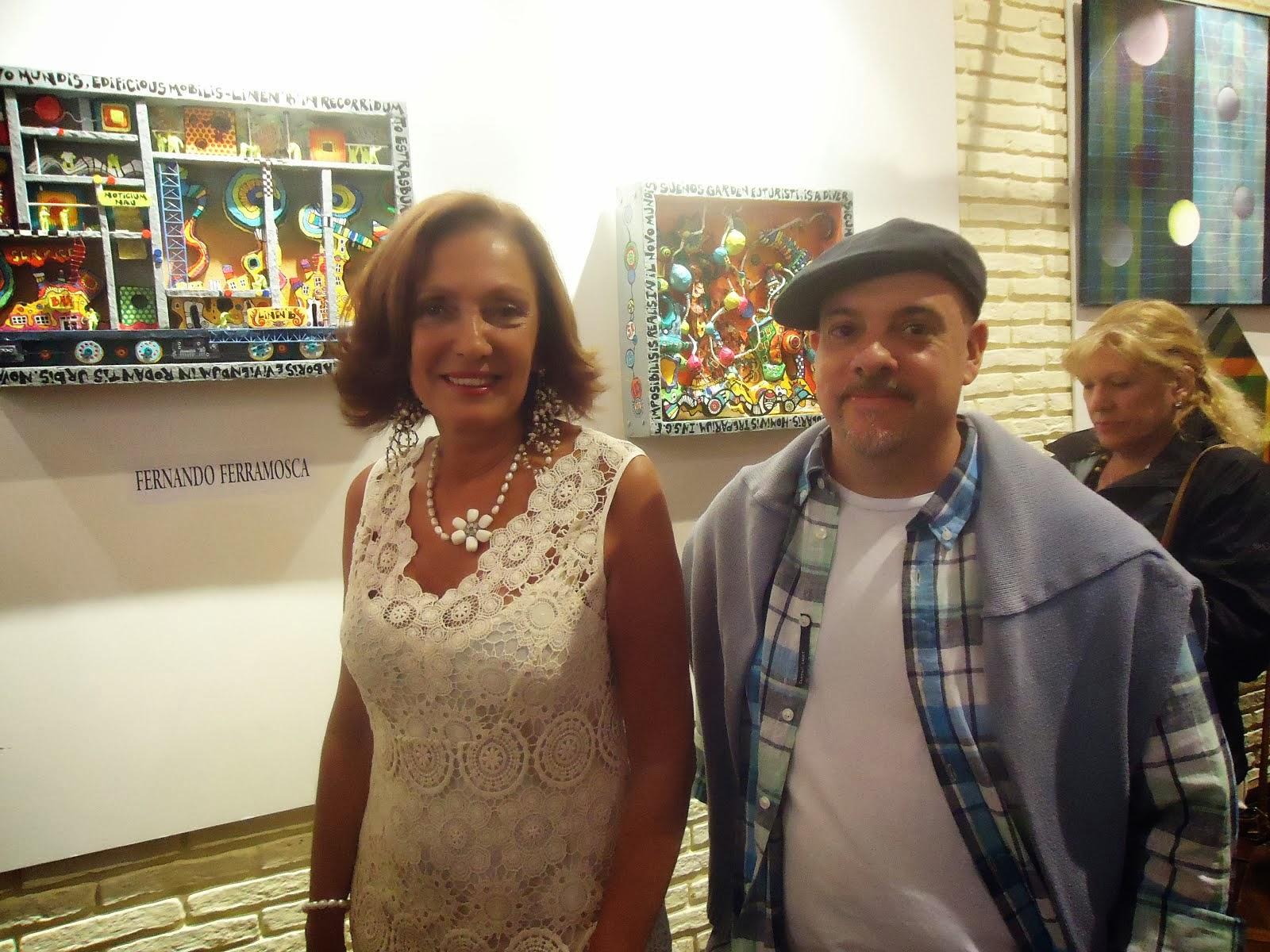 Junto a Norma Duek , organizadora del evento.