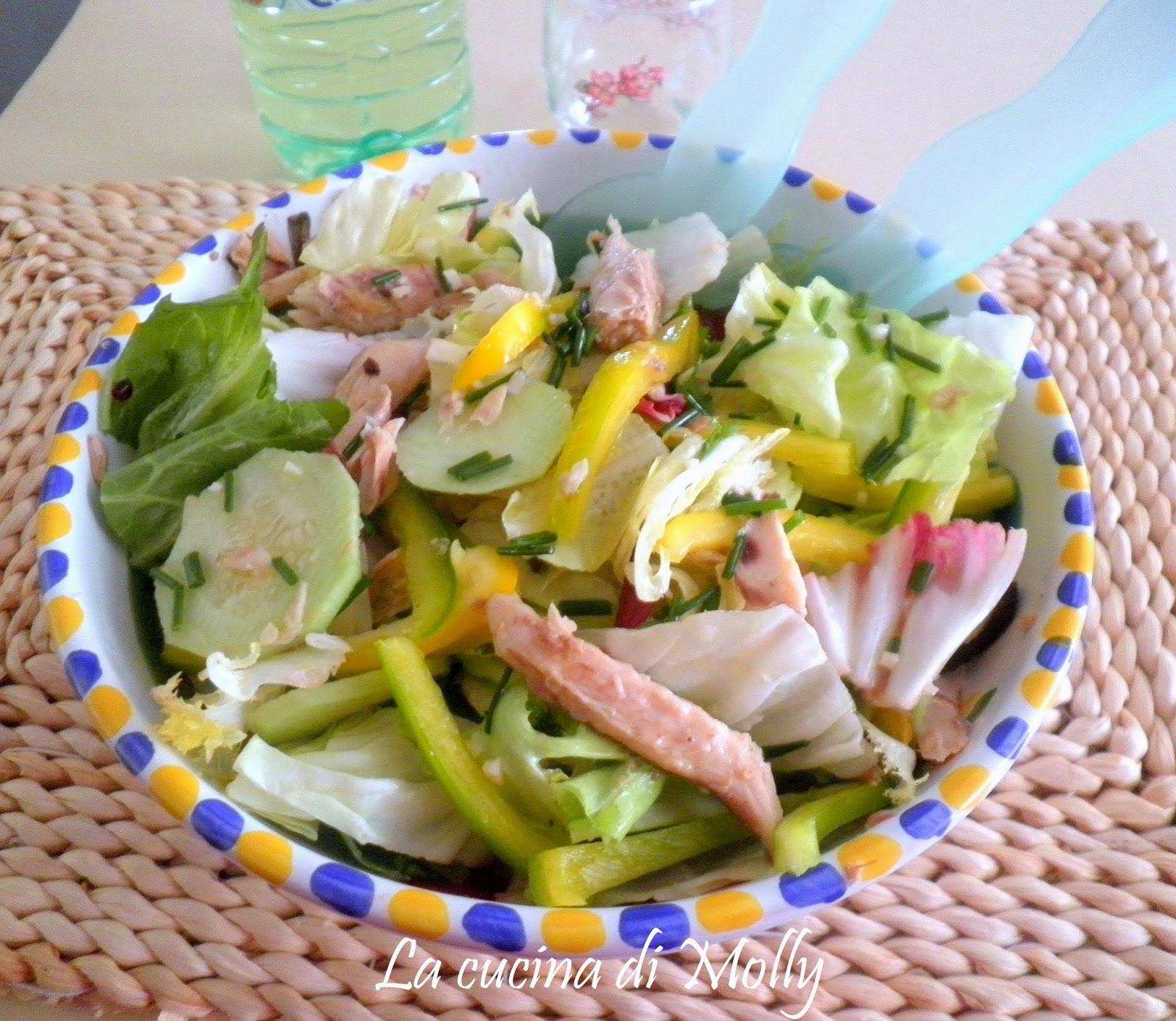 insalata mista allo sgombro