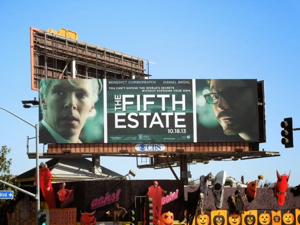 Fifth Estate film billboard