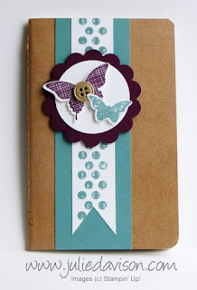 Stampin' Up! Mini Grid Journal with Kinda Eclectic stamp set #stampinup www.juliedavison.com
