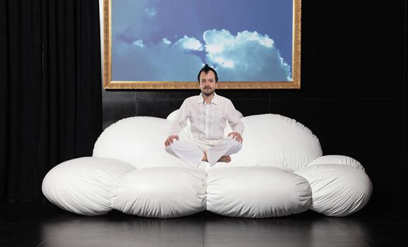 интересни мебели - диван облак