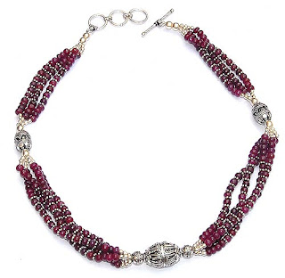 Garnet Gemstone Healing Beads Necklace