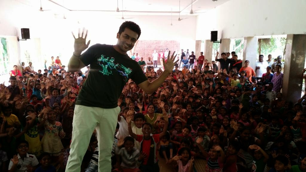 Surya-in-Haiku-Movie-Shooting-Spot-with-Childrens