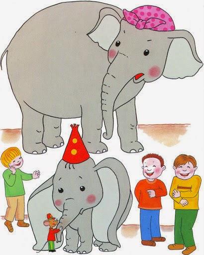 Dumbo. Cuento en imágenes para plastificar. Secuencia temporal del