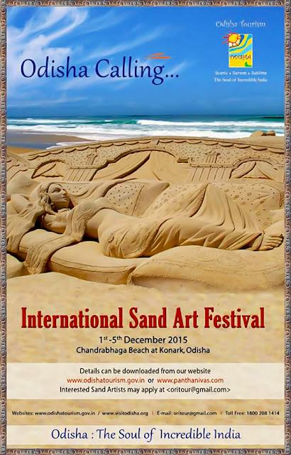 Konark Festival & International Sand Art Festival 2015: Starting from December 1 at Konark