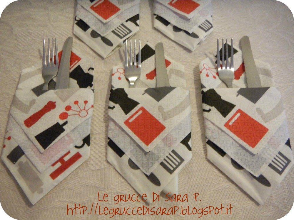 Ben noto Le grucce di Sara P.: Portaposate con i tovaglioli UG62