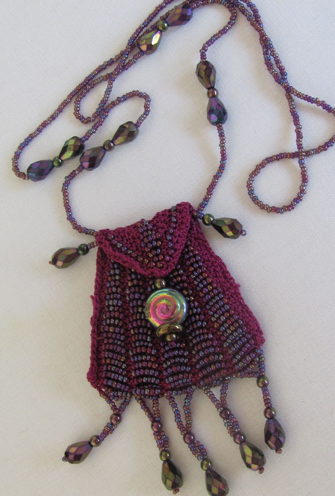 peck s pieces knitted beaded amulet bags