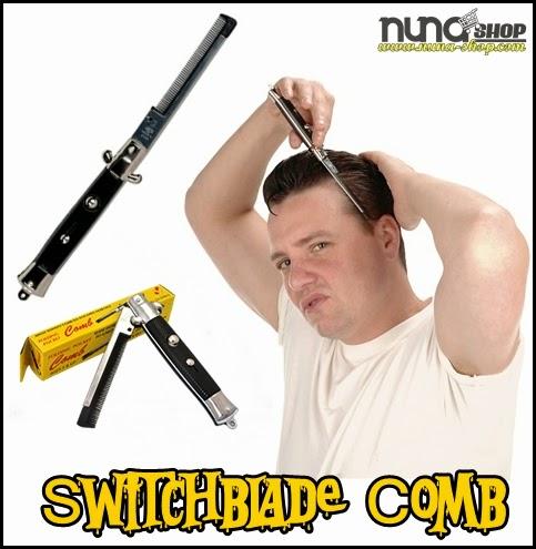 Sisir lipat model pisau (Switchblade Comb), unik bentuknya.Cocok untuk kado dan gaya. Masih jarang di Indonesia COD Purwokerto
