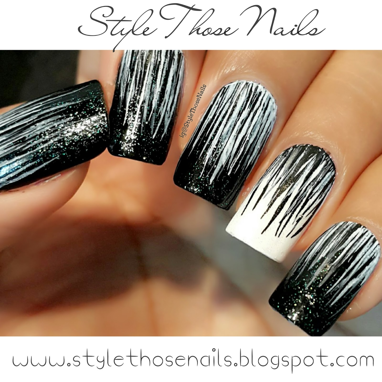 Style Those Nails 40 Great Nail Art Ideas Black And White