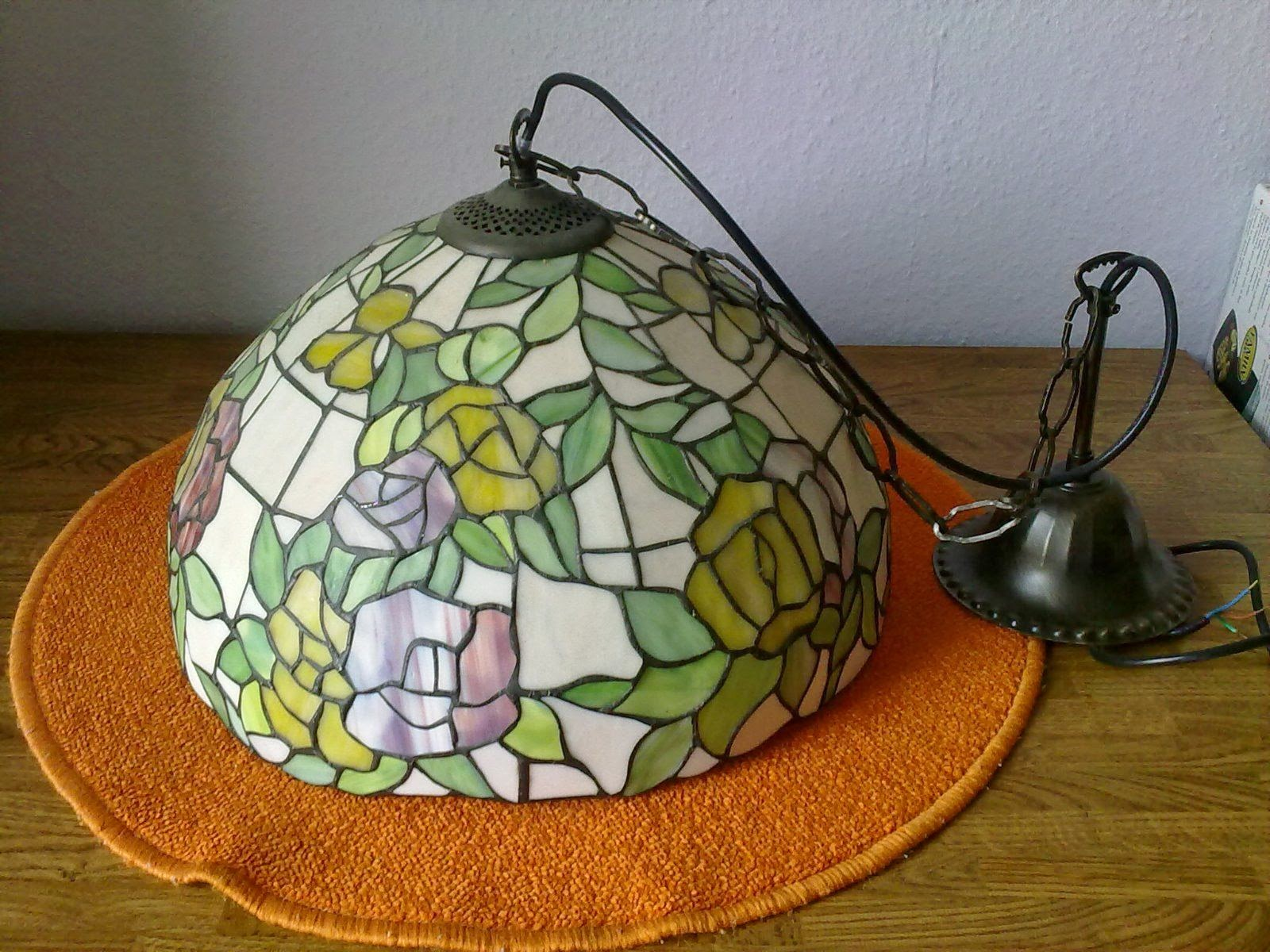 Recogida De Muebles Madrid : Area diseño vintage lampara colgante de cristal tiffany