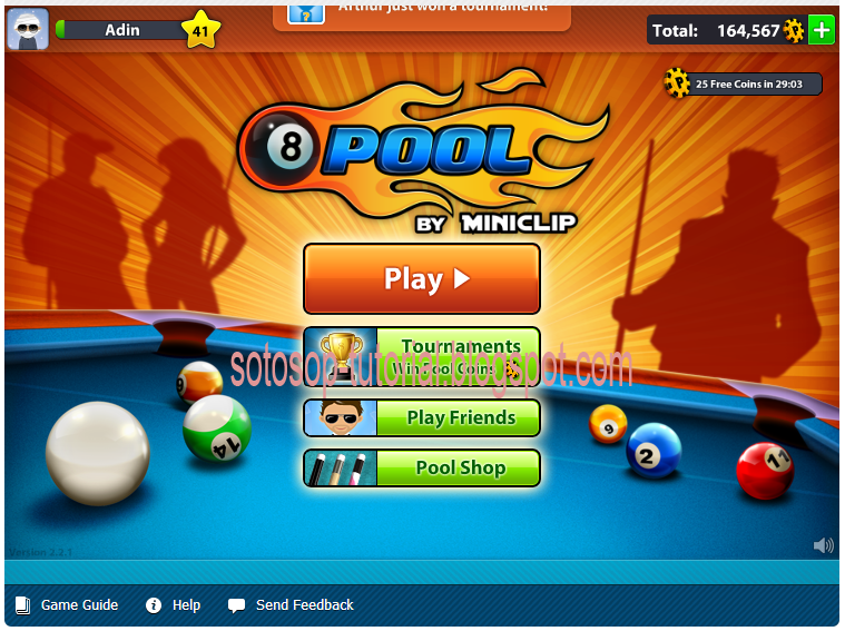 Cheat Garis 8 Ball Pool 2013 100% Work