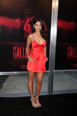 Eiza Gonzalez in Red Dress at The Gallows Premiere in LA