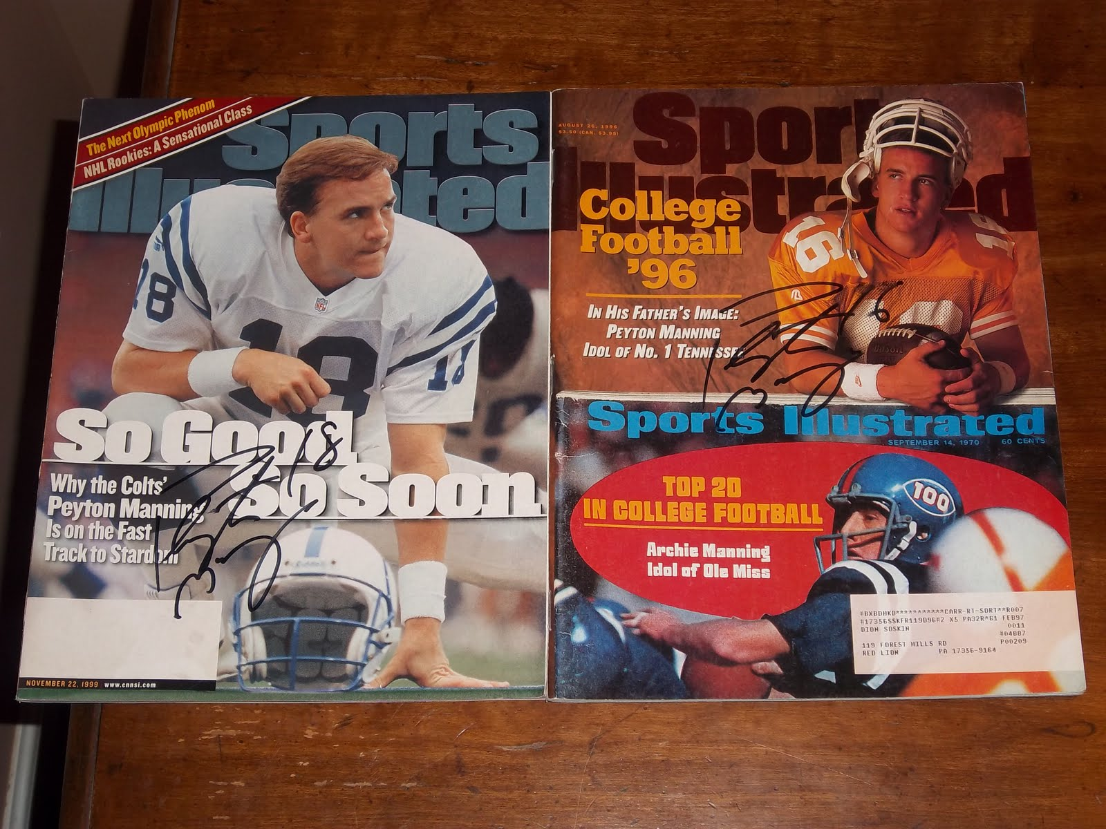 Dion 39 S Autograph Collection Indianapolis Colts