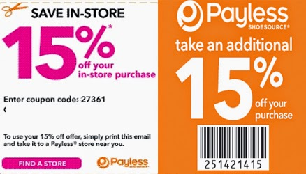 Payless shoes coupons