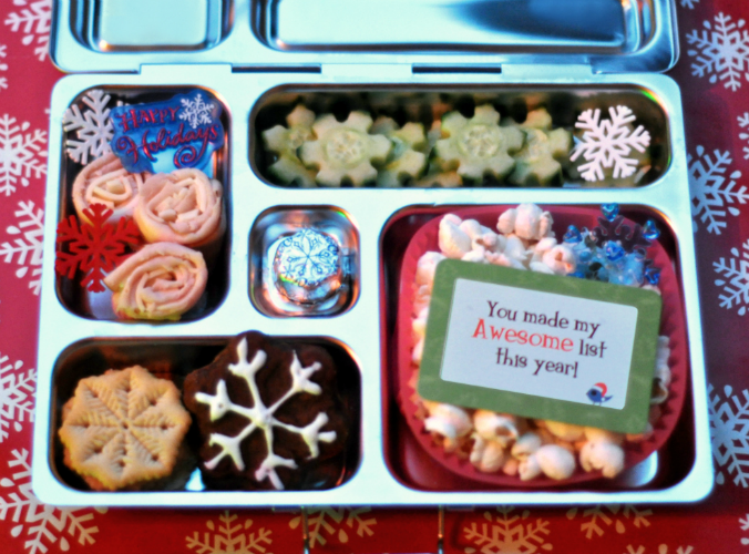 Holiday Snowflake PlanetBox School Lunch