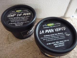 la main verte, coup de main, crèmes pour les mains, crèmes main Lush, produits Lush