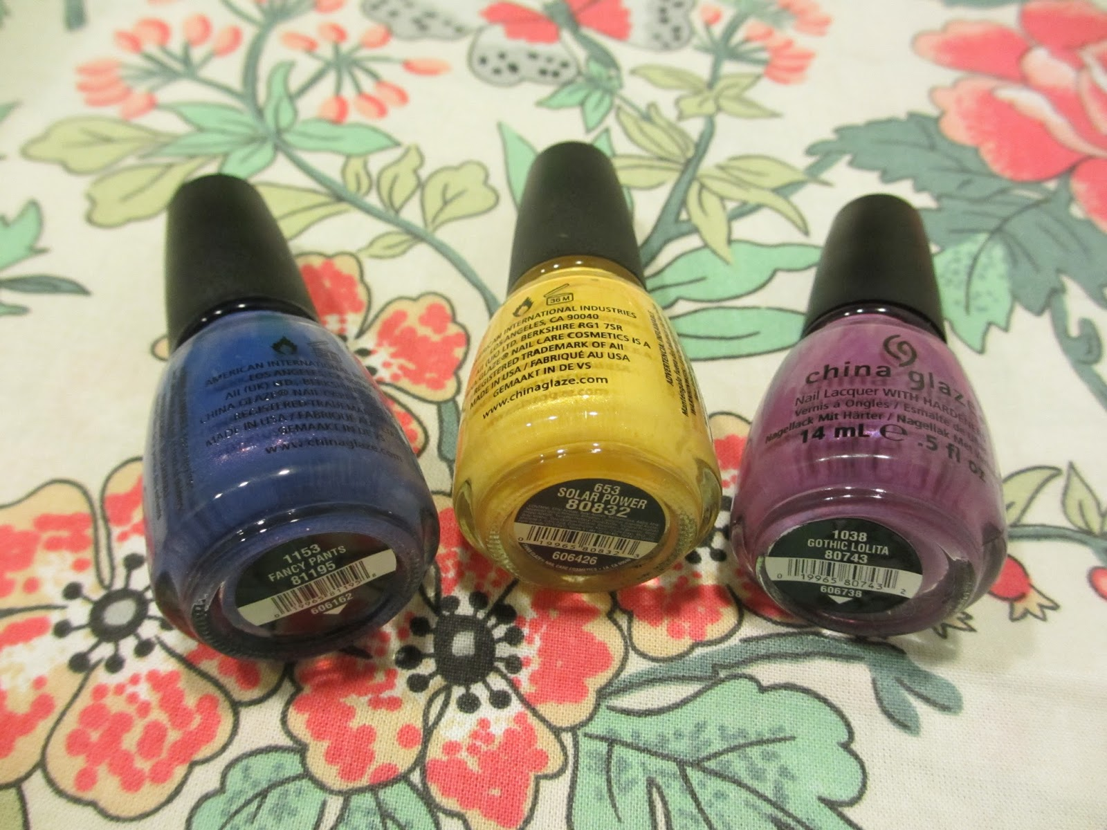 china glaze nail art pansies