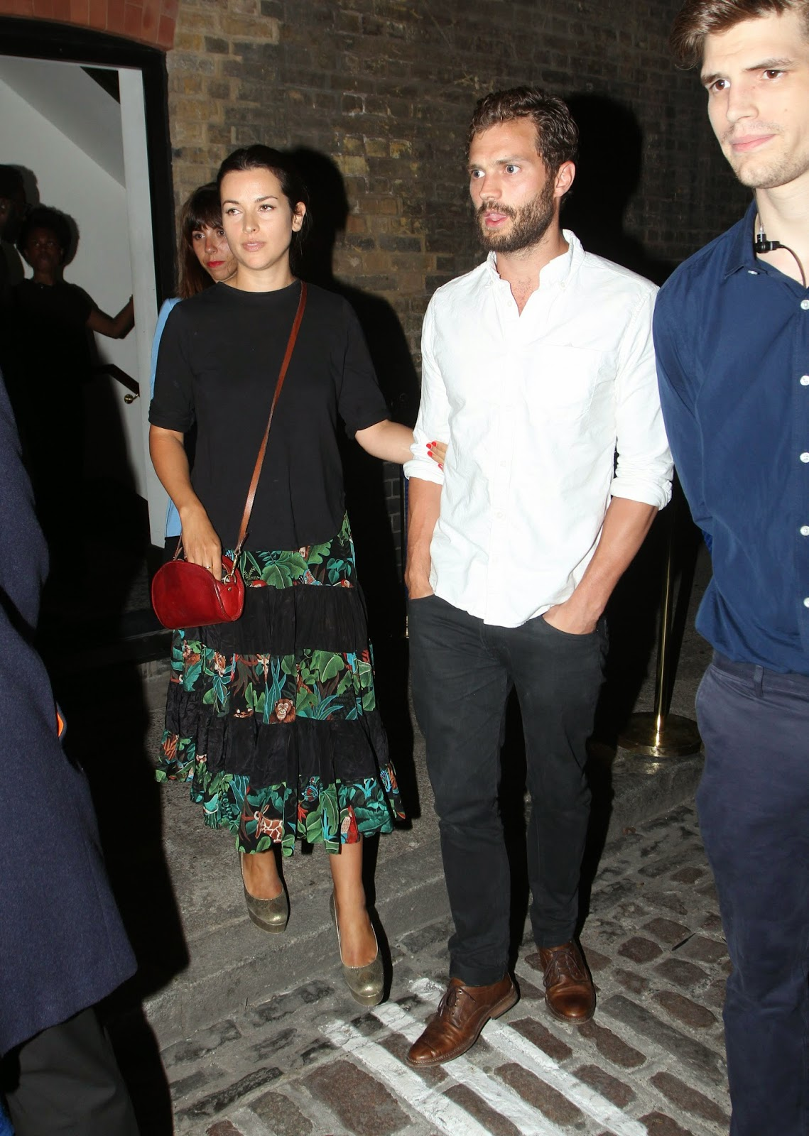 Jamie Dornan was seen out with